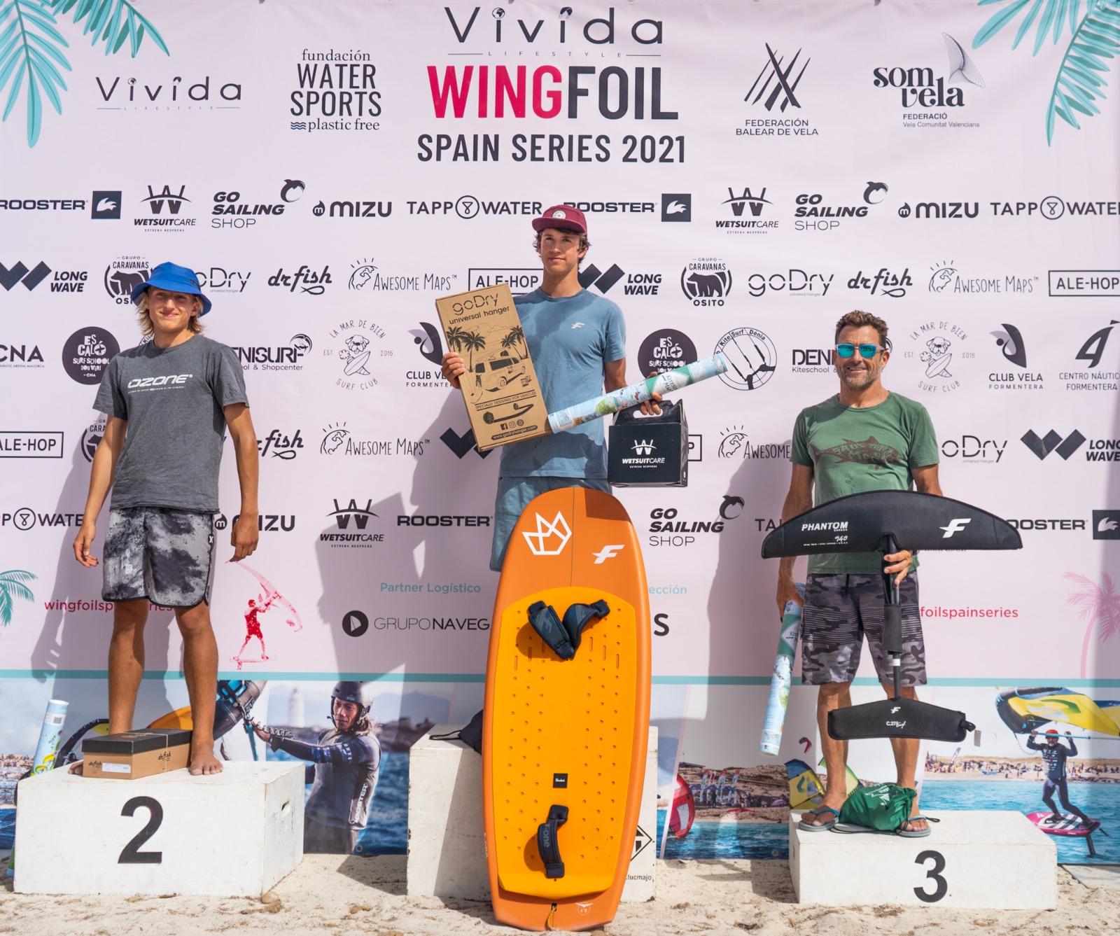 Ducos, primer vencedor del Vivida Wing Foil Spain Series