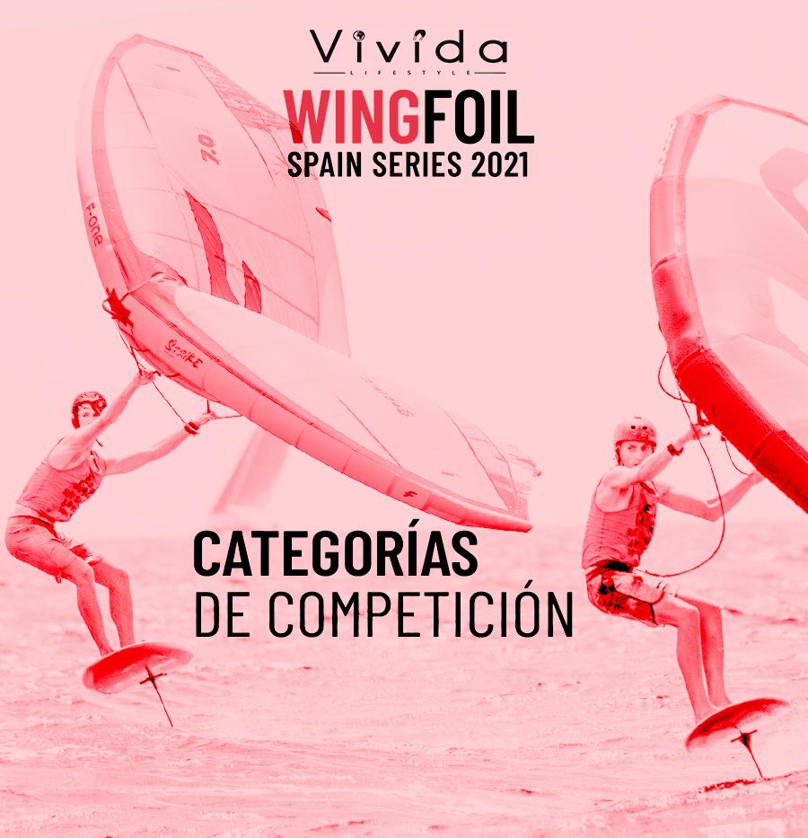 Categorías de competición Vivida Wing Foil Spain Series